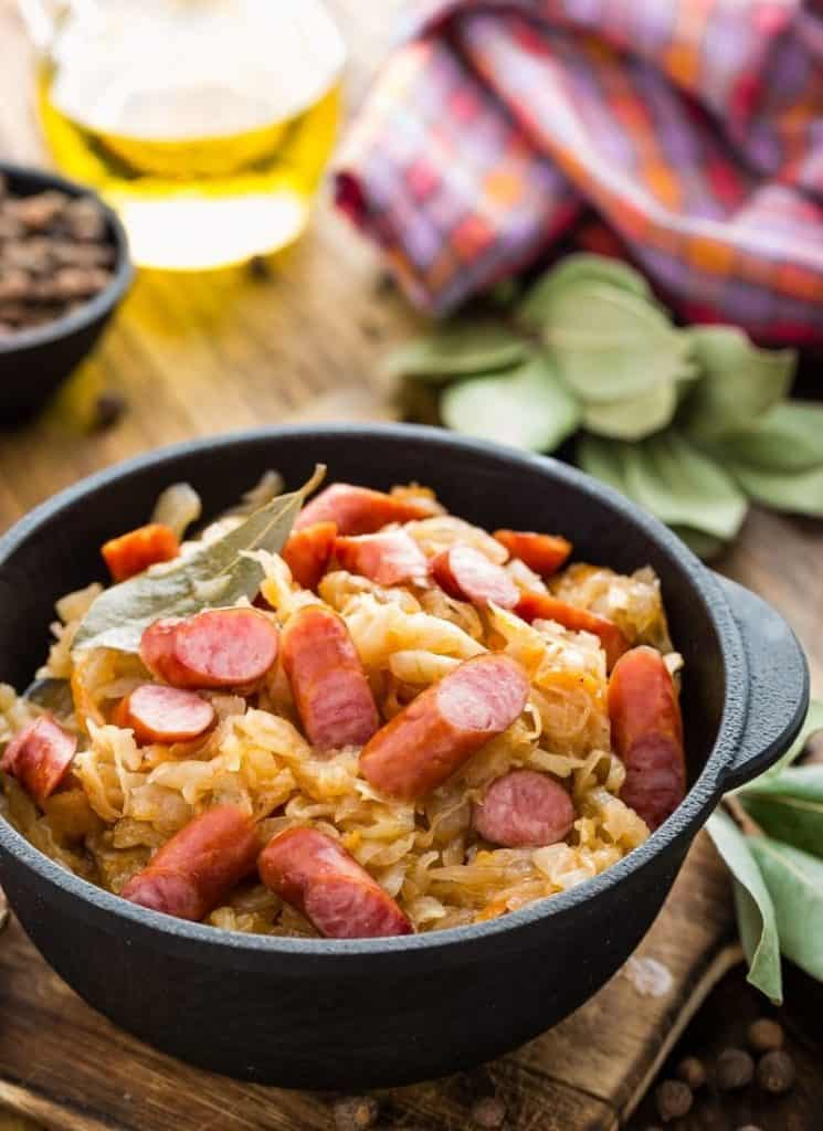 keto cabbage and sausage stir fry
