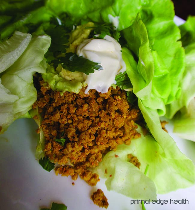 lettuce wraps upclose
