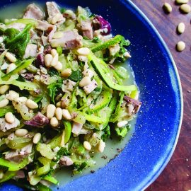 Tuna Zoodles with Lemon, Dill and Pine Nuts