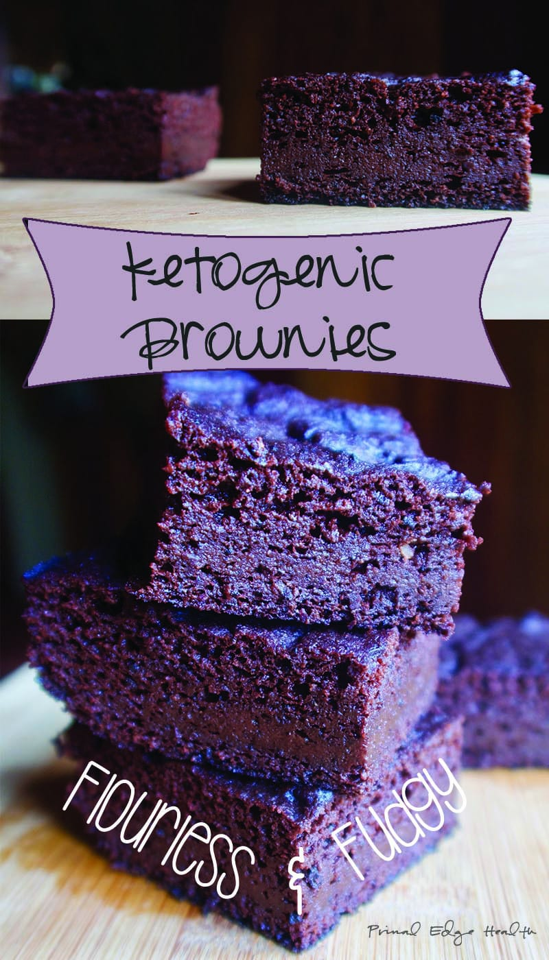 Flourless and Fudgy Ketogenic Brownies - Sugar-free! by Primal Edge Health