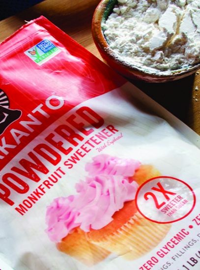 Lakanto powdered monkfruit sweetener in bowl
