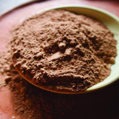 organic cacao powder close up