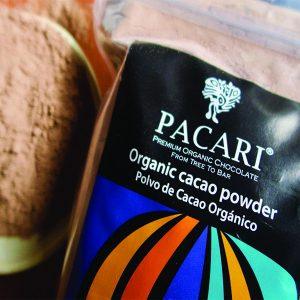 organic cacao powder side