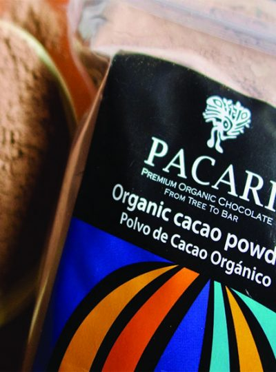 organic cacao powder side