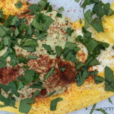 Omelette with Zucchini Hummus featured image