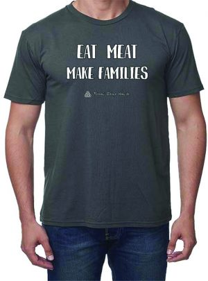 MENS tee in Pewter