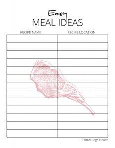 CARNIVORE Diet Meal Planner 4