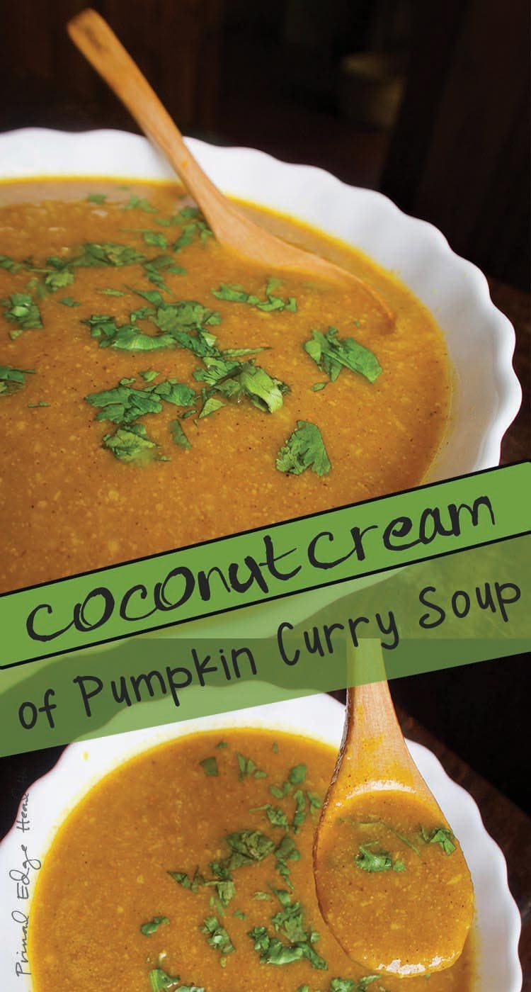 Coconut Cream of Pumpkin Curry Soup
