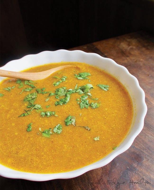Coconut Cream of Pumpkin Curry Soup
