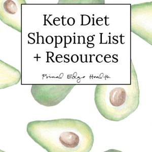 Keto Diet Shopping List cover
