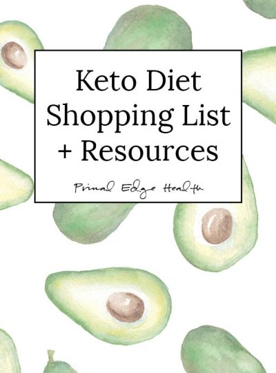 Keto Diet Shopping List cover