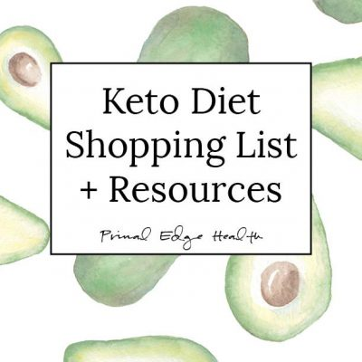 Keto Diet Shopping List cover PRODUCT IMAGE