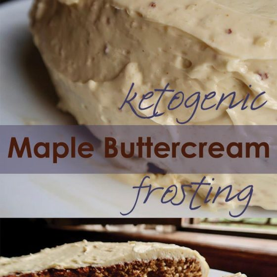 Maple Buttercream Ketogenic Frosting