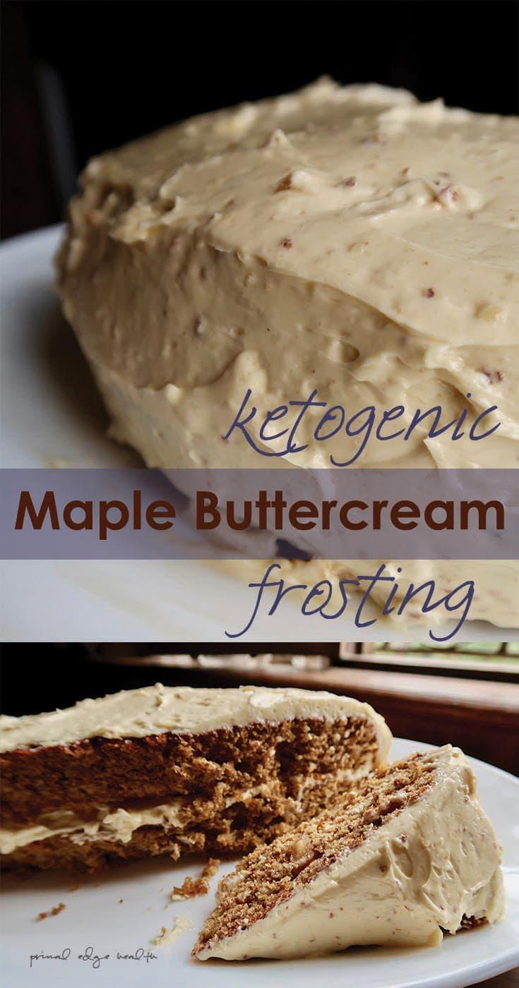 Maple Buttercream Ketogenic Frosting
