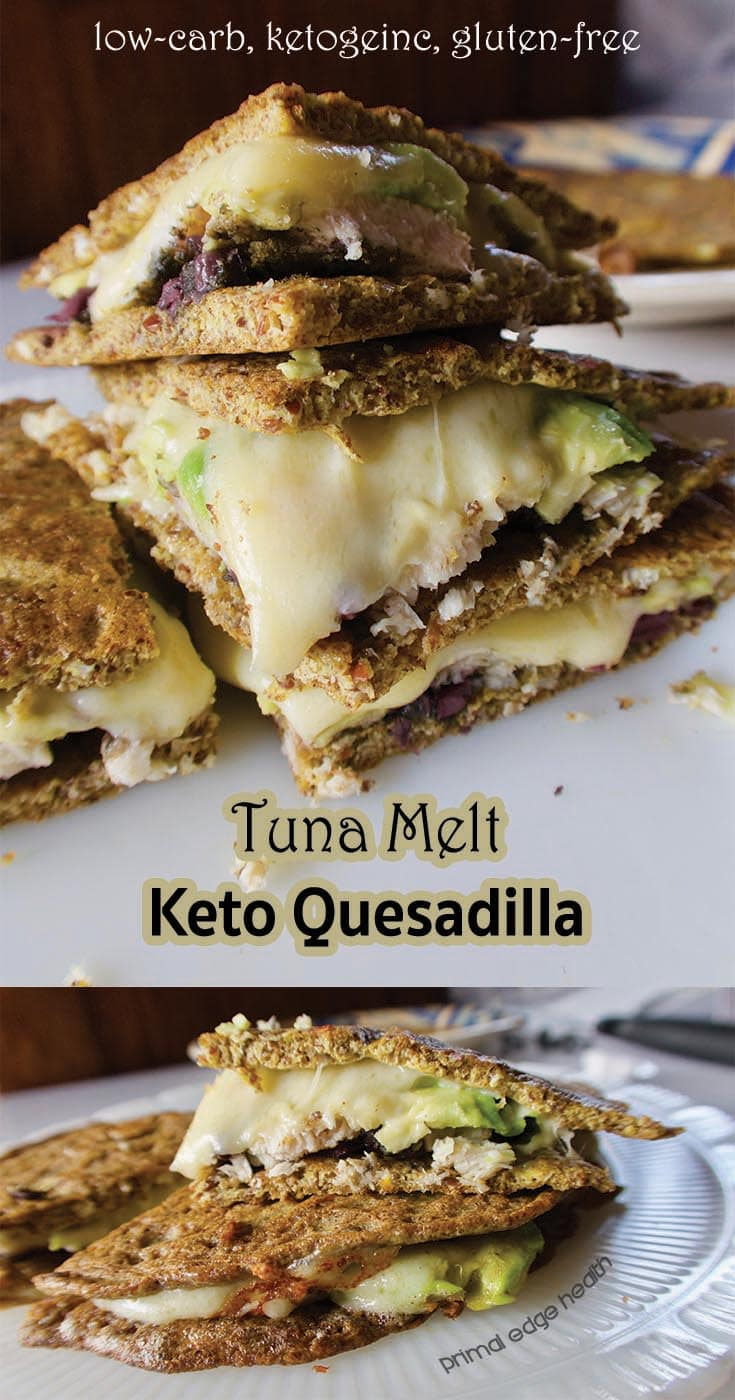 Tuna Melt Keto Quesadilla