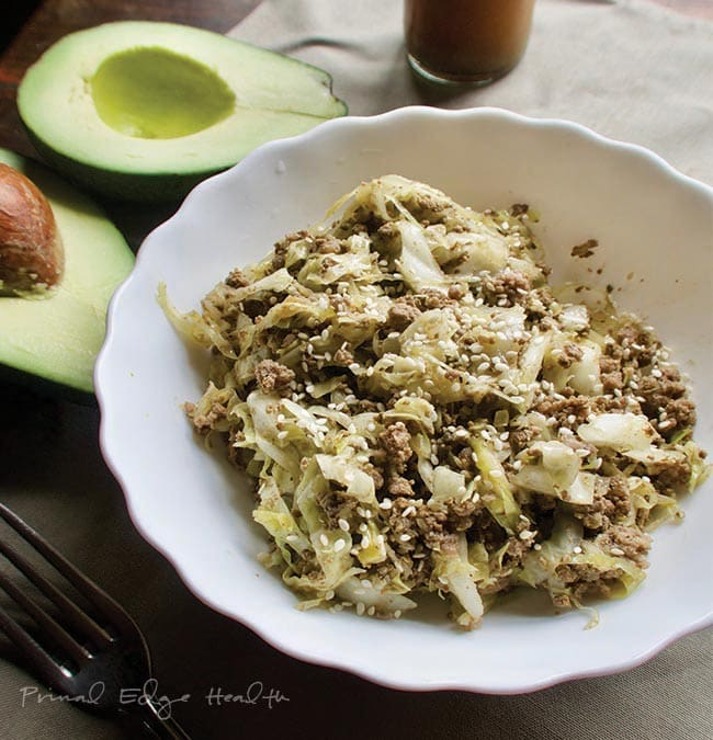 cabbage noodles and ground beef