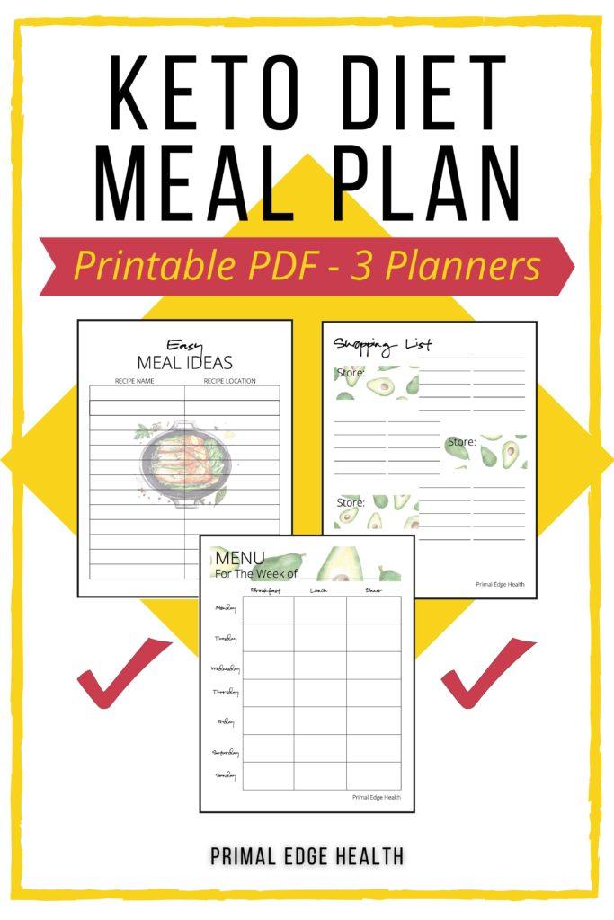 Keto diet meal plan printable