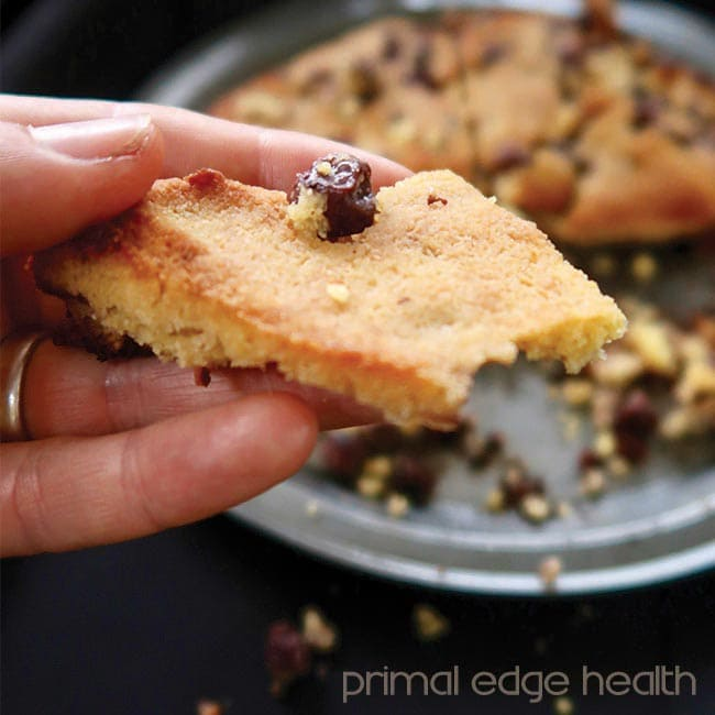 low-carb blueberry scone upclose