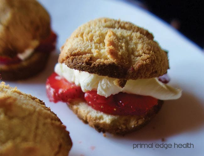 mini ketogenic strawberry shortcake
