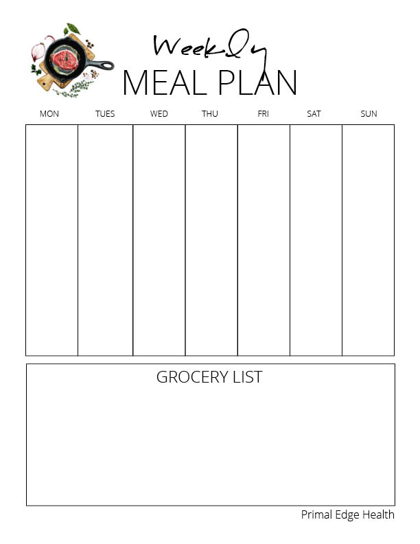printable KETO meal planner 2