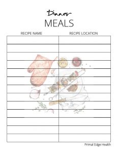 printable KETO meal planner 3