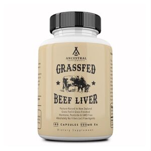 Grass Fed Desiccated Beef Liver Capsules product image