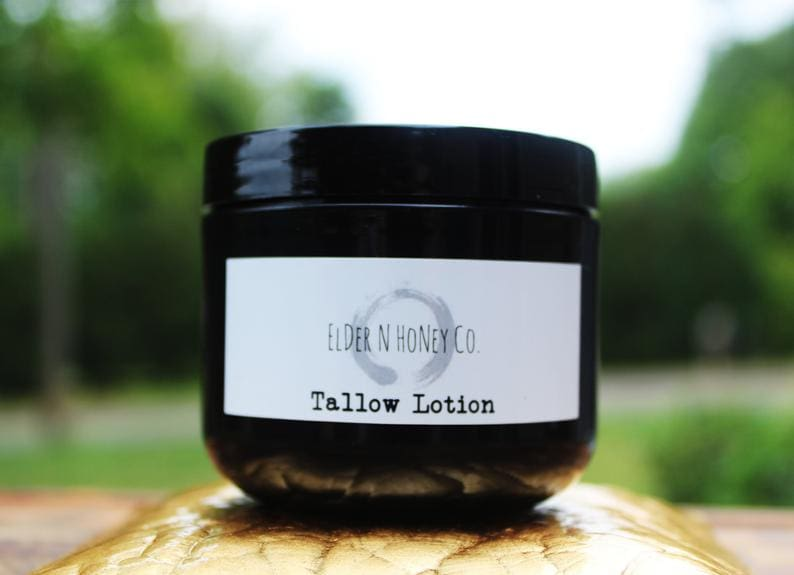 simple tallow balm elder n honey and tallow lotion