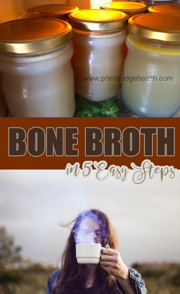 Beef bone broth in 5 easy steps