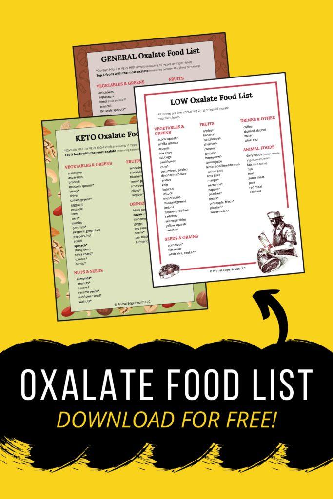 free low oxalate food list pdf