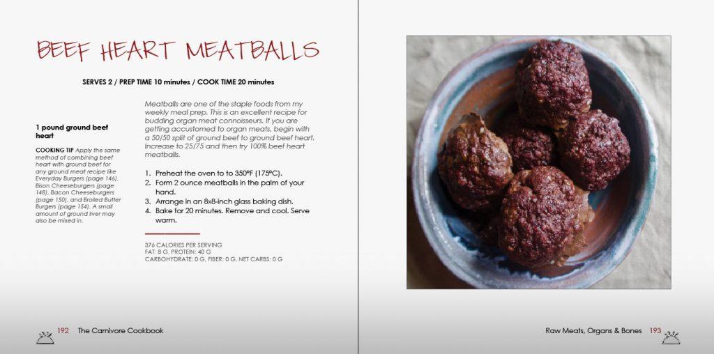 Beef Heart Meatballs