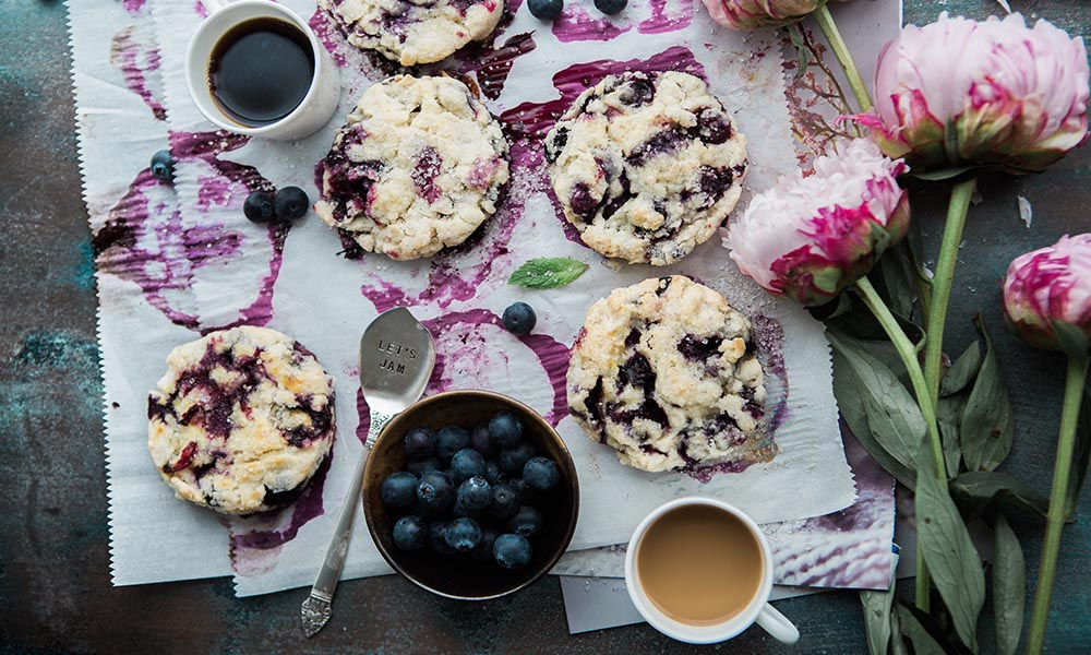 featured low-carb blueberry scone recipe