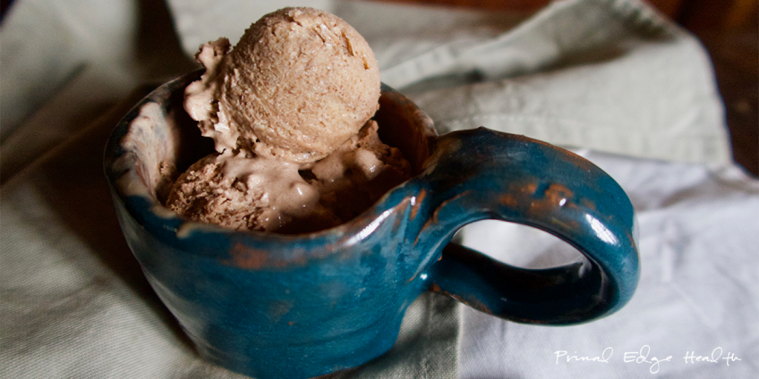 mason jar keto ice cream featured