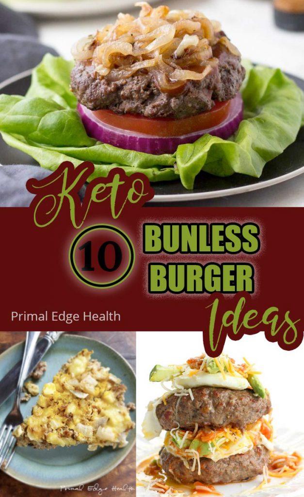 Keto Bunless Burger Recipes PIN