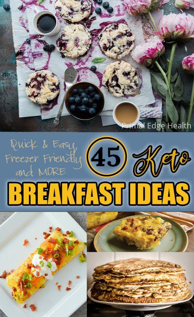 Keto breakfast ideas round up PIN