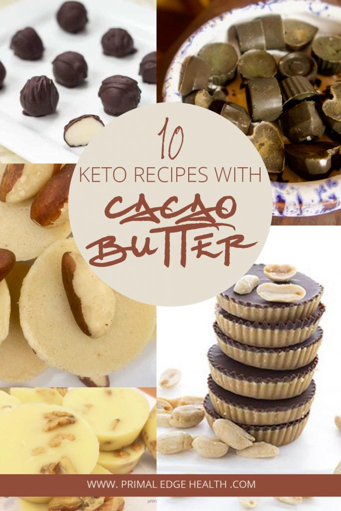 Creamy cacao butter recipes are a great keto source of healthy fats, plus you get to enjoy such delicious low-carb and sugar-free options! #keto #cacao #whitechocolate #cacaobutter #recipe #recipes #idea #sugarfree #lowcarb #homemade #healthy