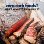 zero carb carnivore diet food list