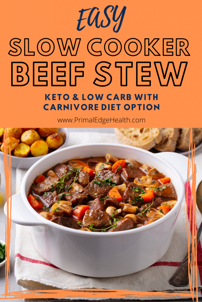 easy slow cooker beef stew keto low carb carnivore diet