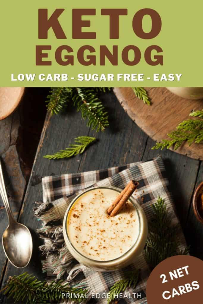 Easy Homemade Keto Eggnog recipe
