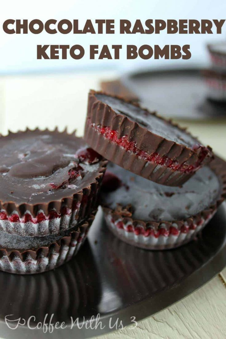 Chocolate Raspberry Keto Fat Bombs