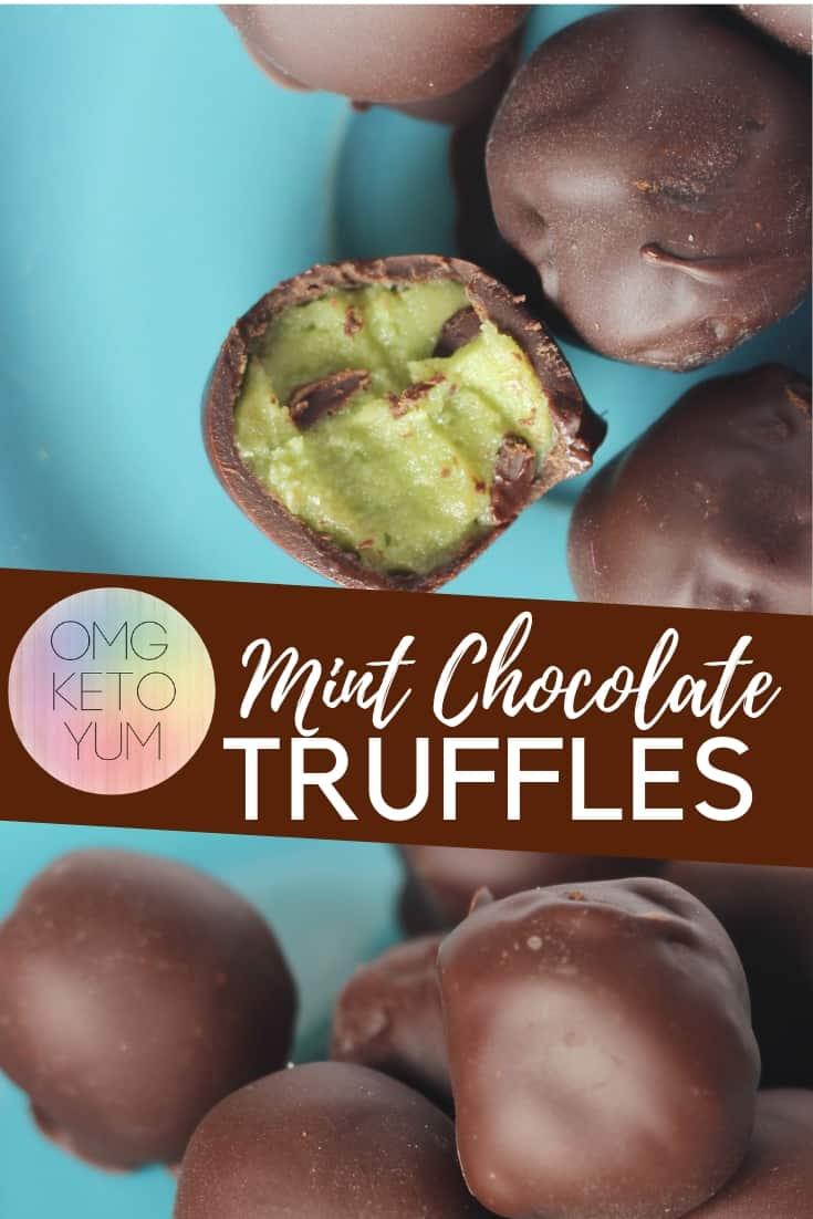 Mint Chocolate Keto Truffles