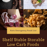 Keto emergency food list backpacking hiking camping meals