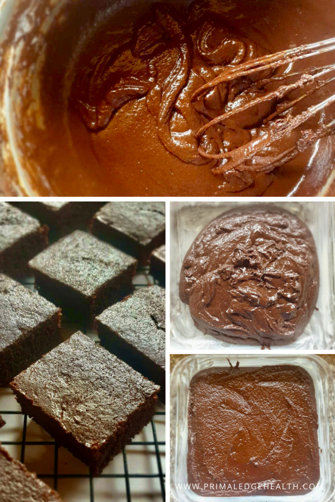 Flourless keto brownies recipe in process 2