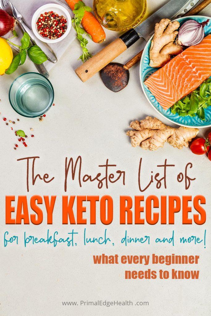 beginner Recipes list breakfast lunch dinner