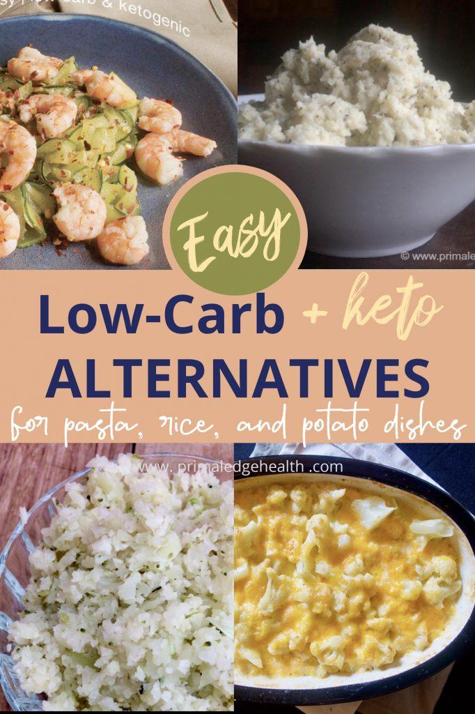 low carb keto alternatives pasta rice potato