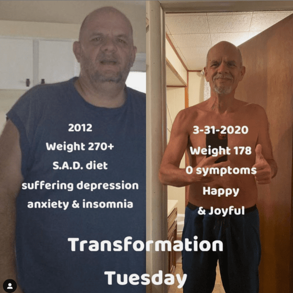 Brett before after carnivore diet results mental health 5