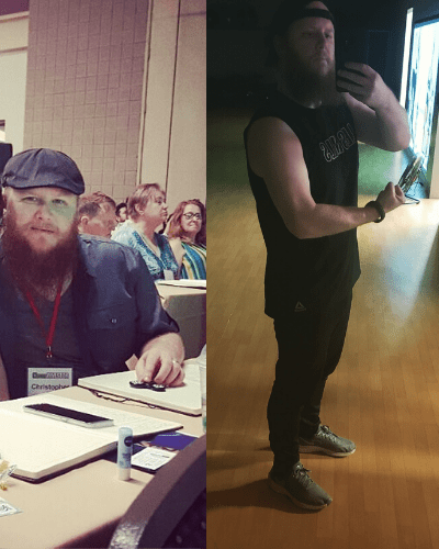 Chris before after carnivore diet results1