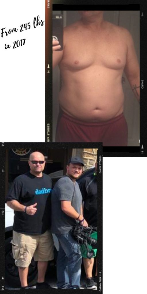 Eric before after carnivore diet results 1