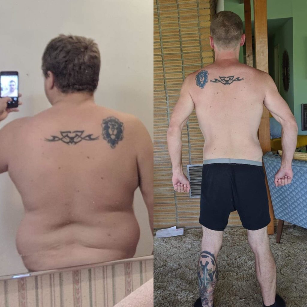 before after carnivore diet results fat loss