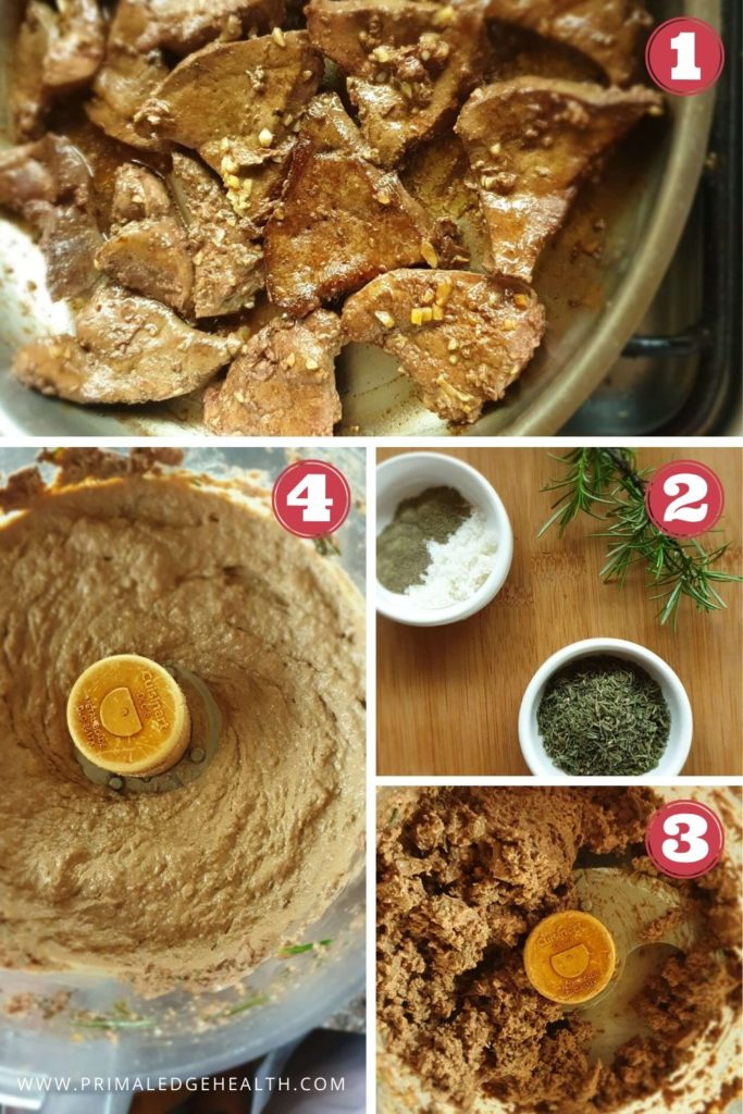 how to make dairy free liver pate step by step process
