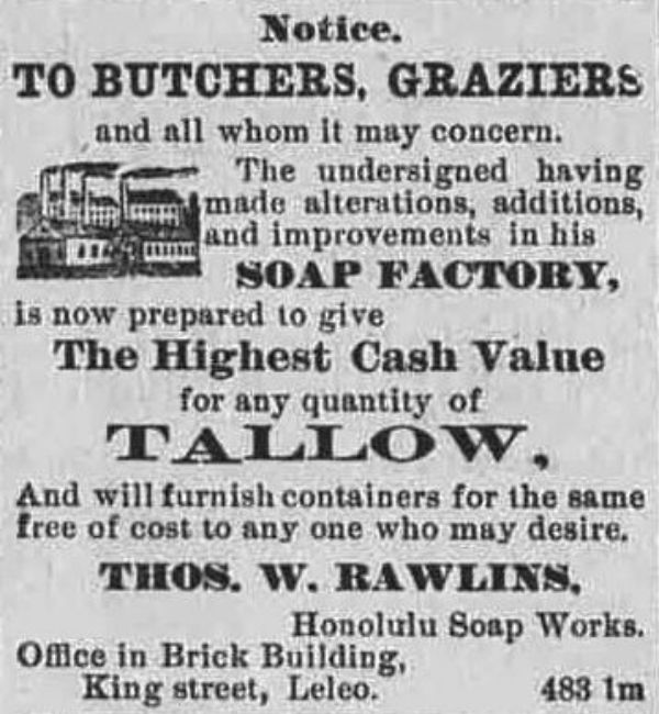vintage tallow soap ad